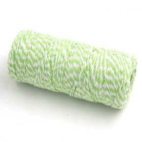 JEMPAK UK® 91.4M x 2mm thick 100% cotton bakers twine  - Lime Green