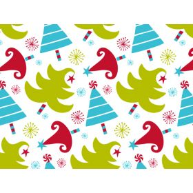Pack of 6 CELEBRATION Xmas TREES tissue paper (51cm x 76cm)