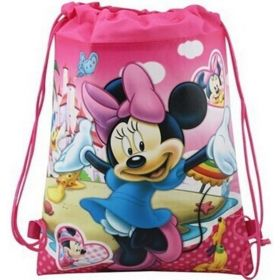 Minney mouse - kids drawstring backpack gym/swimming/school bag - (Design A)