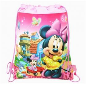 Minney mouse - kids drawstring backpack gym/swimming/school bag - (Design B)