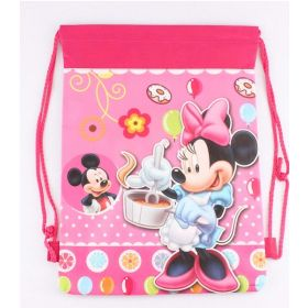 Minney mouse - kids drawstring backpack gym/swimming/school bag - (Design C)