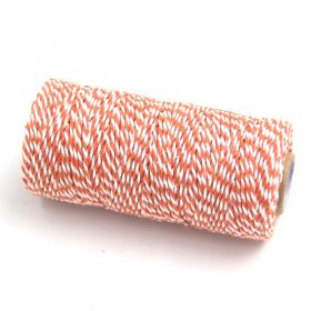 JEMPAK UK® 91.4M x 2mm thick 100% cotton bakers twine  - Orange