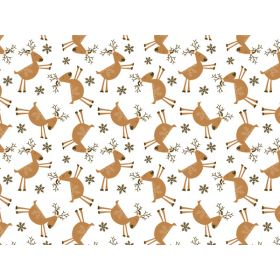 Pack of 6 Xmas REINDEER GAMES Tissue Paper (51cm x 76cm)
