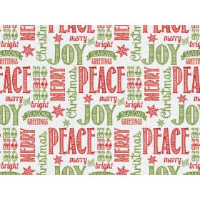 JEMPAK UK Pack of 6 Chalkboard Xmas Wishes printed Tissue Paper (51cm x 76cm)