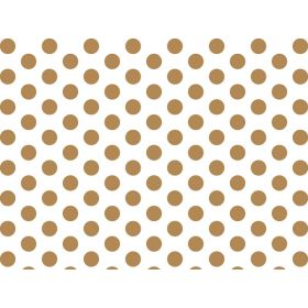 Pack of 6 Gold metallic dots tissue Paper (51cm x 76cm)