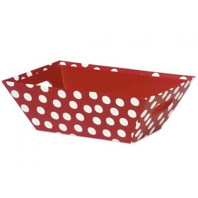 Set of 3 Polka dot red gift trays (25cm length x 19cm width x 9cm deep)