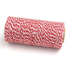 JEMPAK UK® 91.4M x 2mm thick 100% cotton bakers twine  - Red
