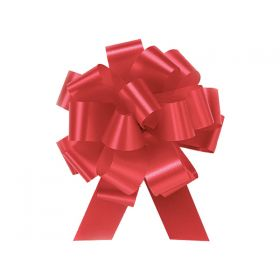22mm embossed pull bow (Pack of 10) - Red