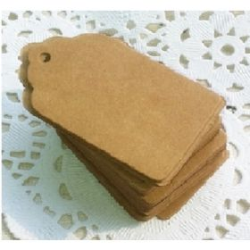 Pack of 25 blank small retro brown Kraft  gift tags (4cm x 7cm) for Packaging/Gift Wrapping/Card-making/General Decoration