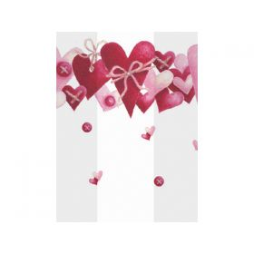 Pack of 10 Valentine's made of love cellophane bags (10cm x 5cm x 23cm)