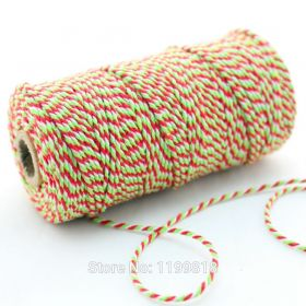 JEMPAK UK® 91.4M x 2mm thick 100% cotton bakers twine  - Xmas colour