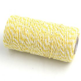 JEMPAK UK® 91.4M x 2mm thick 100% cotton bakers twine  -Yellow