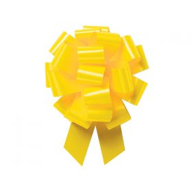 22mm embossed pull bow (Pack of 10) - Daffodil
